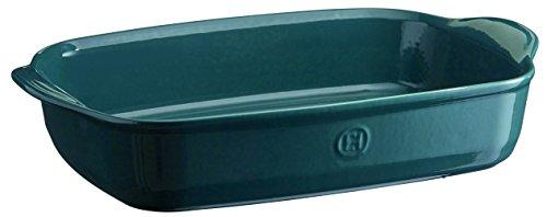 Emile Henry 979654 France Ovenware Ultime Rectangular Baking Dish, 16.5 x 10.6, Blue ()
