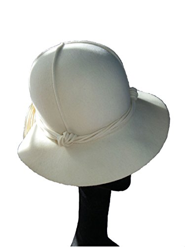 Style Of Individuality Fedora In Winter White Wool, On Safari by Style Of Individuality