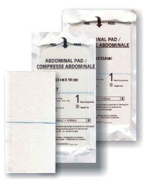 Medicom A7087 Abdominal Pad, Sterile, 8'' Width, 7.5'' Length (Pack of 240)