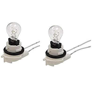 Michigan Motorsports QTY 2 Daytime Running Light Bulbs Turn Signal Sockets for 4157 3157 4114 Bulbs, 2 Wire: Automotive