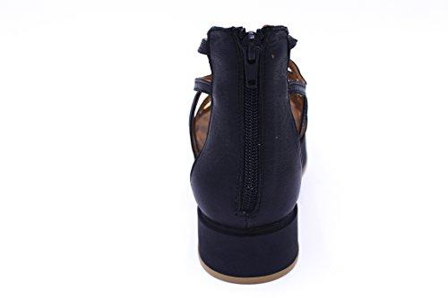 Inuovo - Sandalias de vestir de Piel para mujer negro