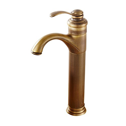 Faucet-European retro copper high hot and cold water above counter basin 140320mm