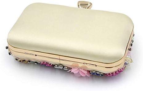 ハイグレードパールイブニングバッグ、カラーフラワービーズハンドバッグ、ハンドバッグ、ウェディングバッグ、古典的な優雅さ 美しいファッション