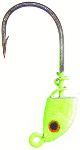 Bass Assassin Lures 1/16-Ounce Spring Lock Jigheads, Chartreuse Flash, 2/0, 3 Count