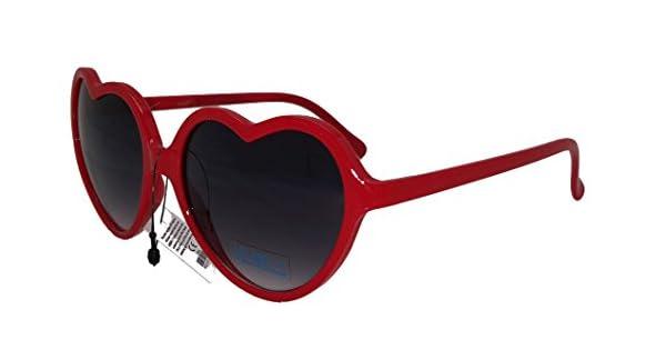 Amazon.com: Con forma de corazón rojo anteojos de sol: Clothing