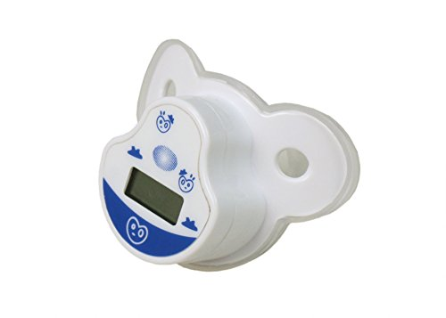 - STOCK CLEARANCE!! ObboMed MM-3000 Baby Digital Mouth Thermometer, Kid/Infant Nipple Pacifier Fever Temperature Monitor, Plastic, White, 1pc (battery included)
