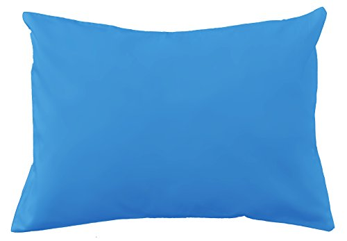 Cotton Toddler Pillowcase (Solids and Polka Dots) (Blue)