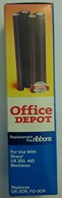 Office Depot 3010 (Sharp UX-3CR/FO-3CR) Black Thermal Fax Ribbons, Pack Of 2, 3010