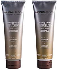 Mineral Fusion Lasting Color Shampoo and Conditioner Bundle with Vitamin B5, Green Tea Leaf Extract, Argan Kernel Oil and Jojoba Seed Oil, 8.5 oz. each