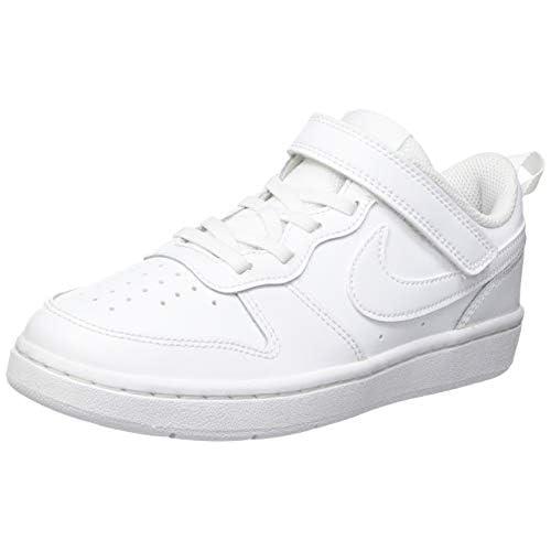 chollos oferta descuentos barato NIKE Court Borough Low 2 Sneaker Boys White White White 40 EU