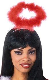 Rubie's Costume Co Luxurius Red Marabou Halo Costume (Red Marabou Halo)