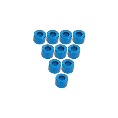 3RACING Integy RC Model Hop-ups 3RAC-WF340/LB Aluminium M3 Flat Washer 4.0mm (10 Pcs) - Light Blue