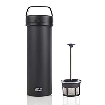 Espro 5116C-18GR Ultralight Coffee Press, Vacuum Insulated, Stainless Steel