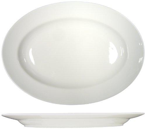 Bone Phoenix China - ITI-PH-12 Phoenix 10.375-Inch Platter 12-piece, Bone China White