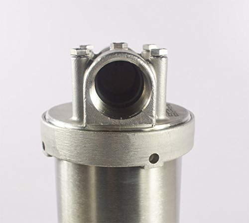 INTBUYING 304 Stainless Steel Filter Housing for 20/'/' Filter/,1 inch NPT Water Filter Housing for Whole House Water Purification