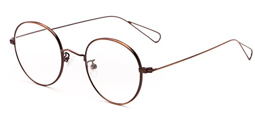 Readers.com The Alchemy +2.25 Bronze Lightweight Thin Optical Quality Round Reading - Optical Bronze