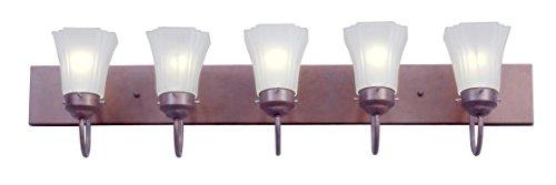 (Livex Lighting 1275K-18 Limited 5-Light Bath Light, Weathered Brick)