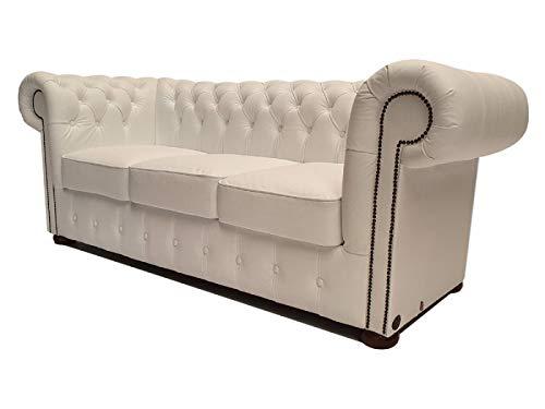 Chesterfield Class - Sofá de 3 plazas, Color Blanco: Amazon ...
