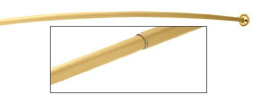 Polished Brass Curved Adjustable Shower (Brass Shower Curtain Rod)