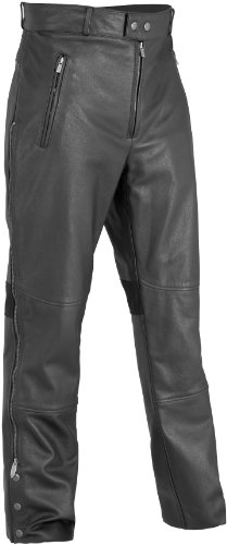 River Road Bravado Leather Overpants , Distinct Name: Black, Primary Color: Black, Apparel Material: Leather, Size: 34, Gender: Mens/Unisex XF-09-3613