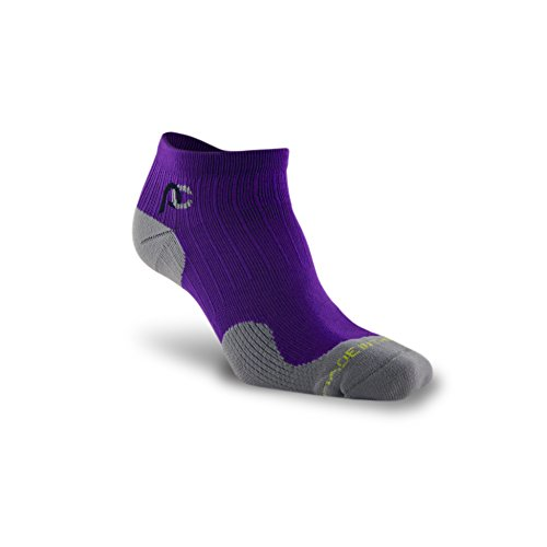 PRO Compression: Trainer (Low-Profile) Compression Socks, Purple, 2 Pairs, Small/Medium -