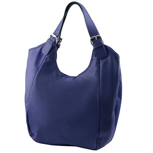 Leather Tuscany Blue Dark Dark bag Blue Gina Leather hobo q1C6dPBwq