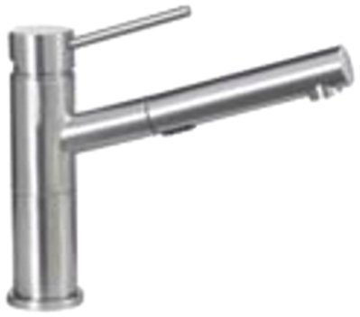 Blanco 441492 1.8-Gpm Alta Compact Pull-Out Dual Spray, Satin Nickel by Blanco