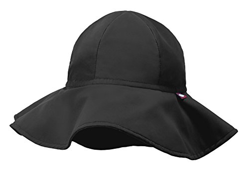 City Threads Swimmig Hat for Boys and Girls, Swim Hat Bucket Floppy Hat with SPF Sun Protection SPF for Beach Summer Pool, Black, M
