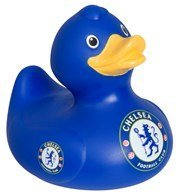 Chelsea Bath Time Duck - Blue - One Size Only - Soccer Rubber Duck