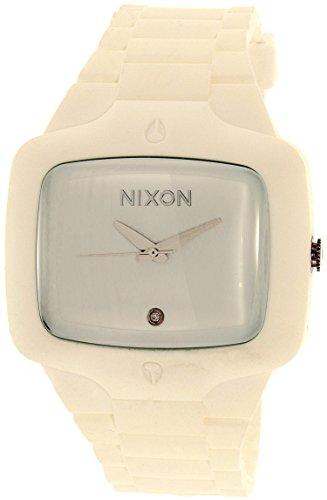 Nixon Men's A139-100 Rubber Analog White Dial - Nixon Sunglasses