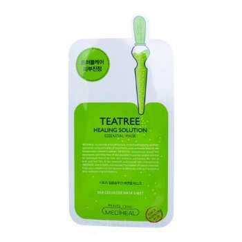 10Pcs MediHeal Teatree Healing Solution Essential Mask Pack Sheets Made in Korea