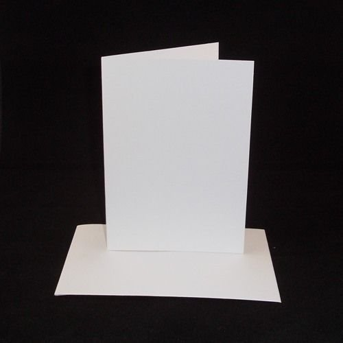 10 x A4 White Card Blanks With White Envelopes Stella Crafts