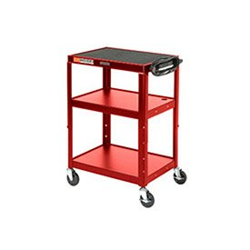 Luxor Instrument Carts - Steel Audio Visual & Instrument Cart Red