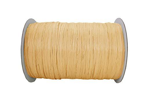"ISPIE Rayon Raffia Crochet Yarn 1/4"" 100-Yard Oatmeal"