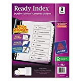 (3 Pack Value Bundle) AVE11132 Ready Index Classic Tab Titles, 8-Tab, 1-8, Letter, Black/White, 1 Set