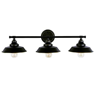 LMSOD Vintage Industrial Black 3 Light Tube Wall Sconce Lighting Fixture Fashion Simplicity Metal Based