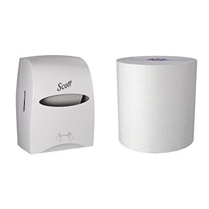 950/' // Roll 02001 Unperforated 5,700/' // Case Kimberly-Clark Professional 6 Rolls // Case Fast Change with Scott Essential Dispenser White Scott Essential High Capacity Hard Roll Paper Towels