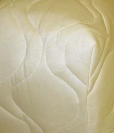 Quilted Fitted PACK n PLAY Mattress Pad - Ivory (Graco) - Made In USA