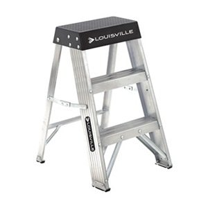 Step Stand, 24 In H, 300 lb., Aluminum