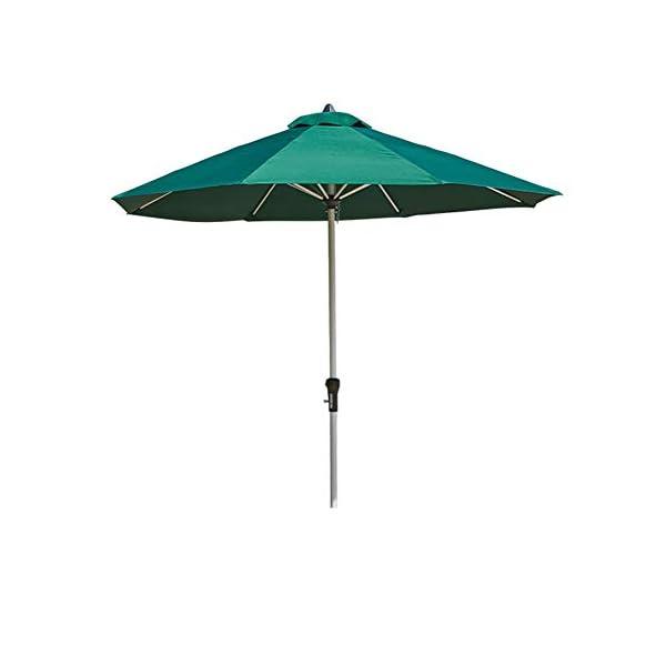 MENG Ombrellone in Alluminio 2.5 M Ombrellone Esterno Protezione UV Ombrellone Rotondo per Ombrellone da Spiaggia… 5 spesavip