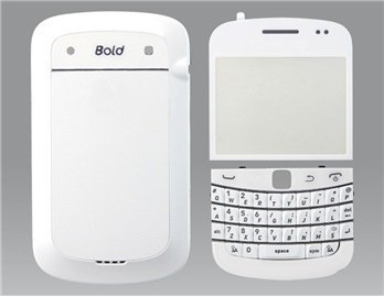 9900 Car (Full Housing Case with Keyboard for BlackBerry 9900 (White))