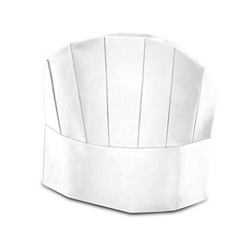 Berkshire Kitchens - 20 Disposable Chefs Hats. Adjustable White Paper Chef Hats for Kids and Adults! Perfect for Cooking Parties! Includes Free Recipe E-Book!