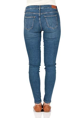 17p Azul Blue perfect Wrangler Para Mujer Vaqueros Skinny 8x48ICq0