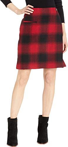 (Pendleton Women's Aurora Wrap Skirt Red/Black Ombre Check 2)