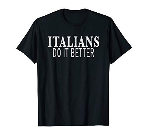 Italians Do It Better t shirt - Distressed. As worn by Madonna in 1986 Papa Don't Preach video
