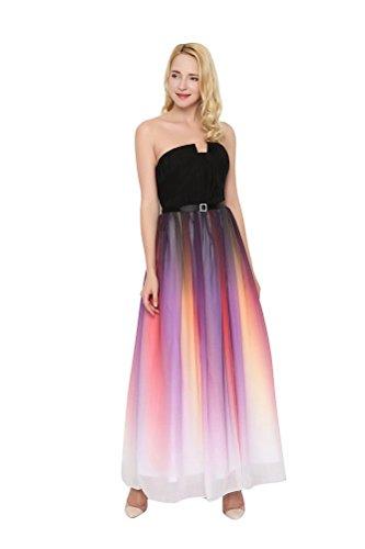 WeiYin Women's Chiffon Long Prom Party Dress Evening Dresses