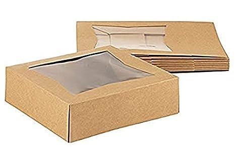 Kraft - Caja para ventanas de papel, 10 unidades, cartón kraft ...