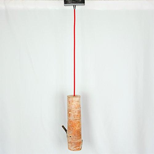 Rustic Modern Birch Pendant & Architectural Steel Light Fixture Chandelier, Adjustable Length