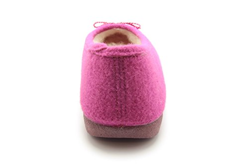 EU UK and MADE Andres lining IN Felt Flats Fuchsia Machado wool Large Medium with to 10 Size 3 SPAIN Alpine AM402 range 36 5 5 sizes to 45 Ballet w7zWgqTw