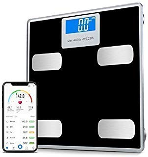 Toye Digital Scale Bathroom Body Fat, Smart Bathroom Scales Digital Weight, BMI Scales Body Fat Analyzer Included Weight, Body Fat ,BMI, Water, Bone, Muscle and More 400lbs